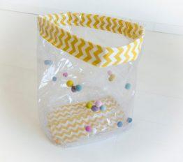sac à jouet jaune-rose boho