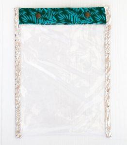 pochette transparente- rose boho
