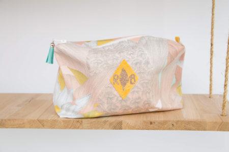 Trousse de toilette enduite amazone-rose boho
