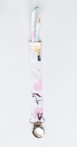 attache sucette licorne-rose boho