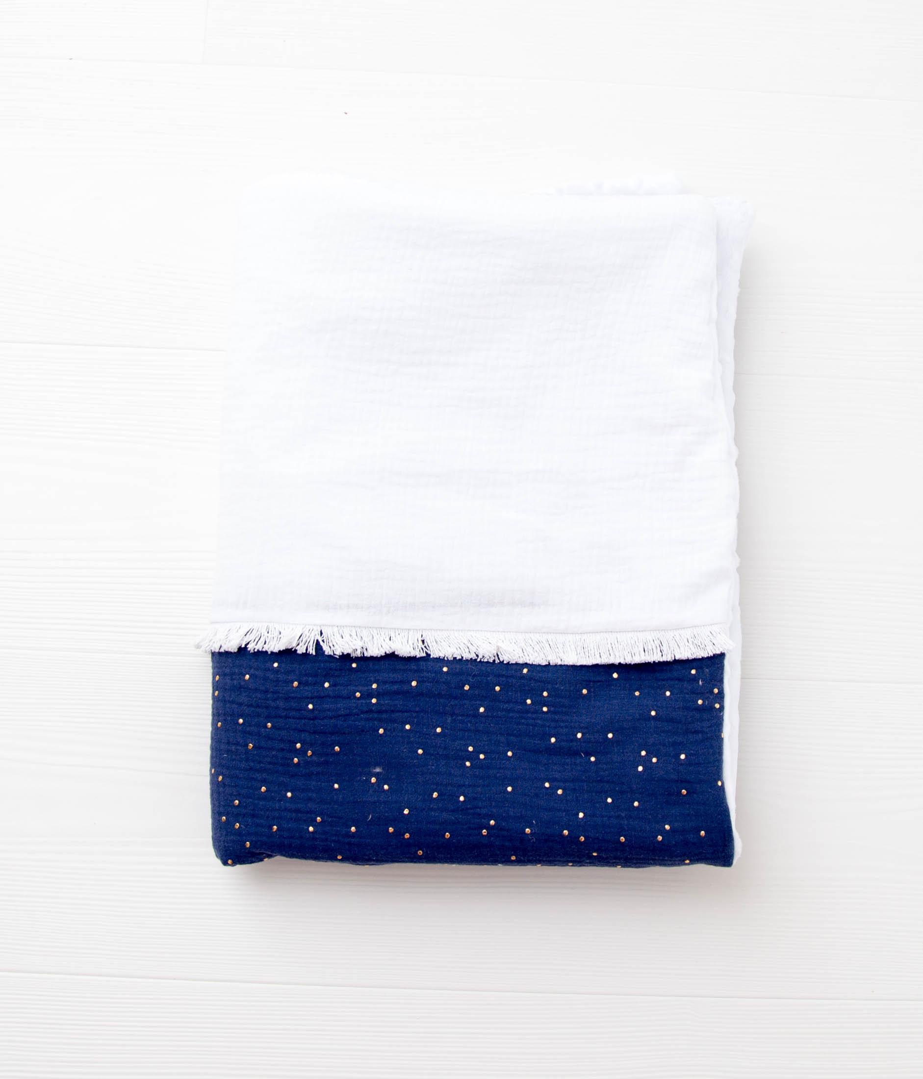couverture gabrielle bleu marine